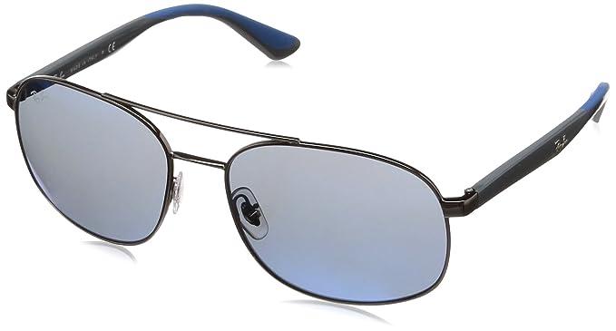 ebeac12dcd Ray-Ban Men s 0rb3593 Non-Polarized Iridium Square Sunglasses GUNMETAL 58 mm