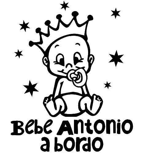 Pegatina Vinilo Bebe a Bordo + Nombre para Coche, Varios ...