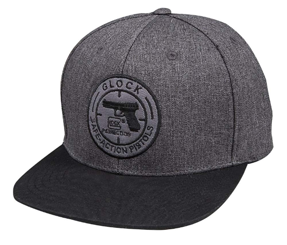 Glock Perfection OEM Dimフラットビルチャコールグレー野球キャップ帽子with Glockロゴap95426   B07B459FK8