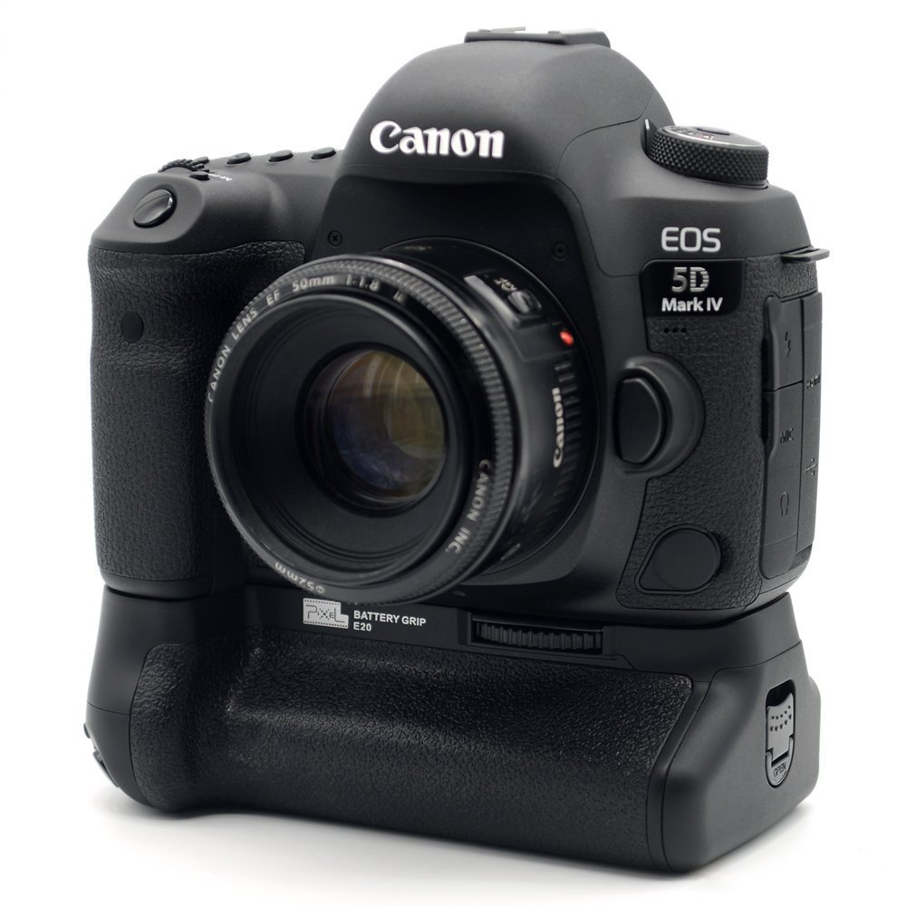 Pixel BG-E20 Battery Grip for Canon EOS 5D Mark IV DSLR Cameras Batteries E20 LP-E6/LP-E6N ( Replacement for Canon BG-E20)