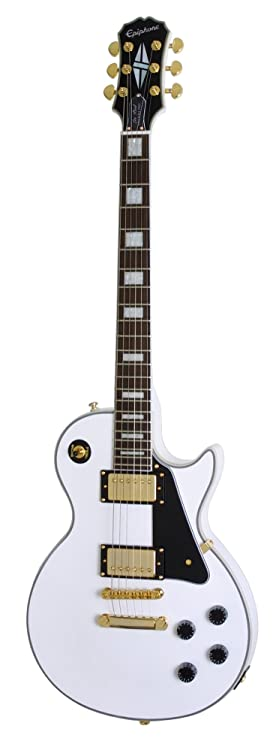 Epiphone Les Paul Custom PRO - Guitarra eléctrica, color alpine white
