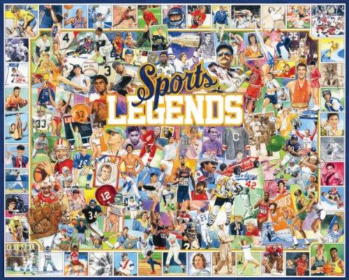 White Mountain Puzzles Sports Legends - 1000 Piece Jigsaw Puzzle