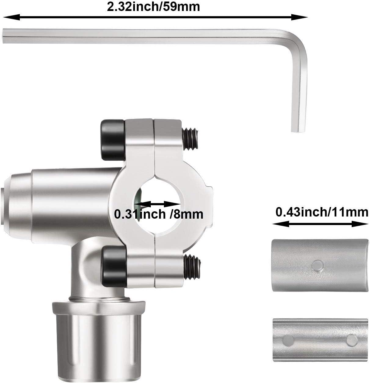 2pack BPV-31 Bullet Piercing Tap Valve Kits Refrigerant Charging Hose with Gauge