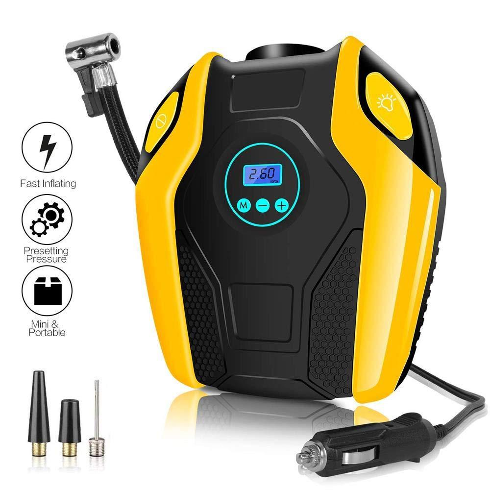 Sonmer Portable Car Electric Inflator Pump,12V 14A,Max to 150PSI Pressure(Digital Display)
