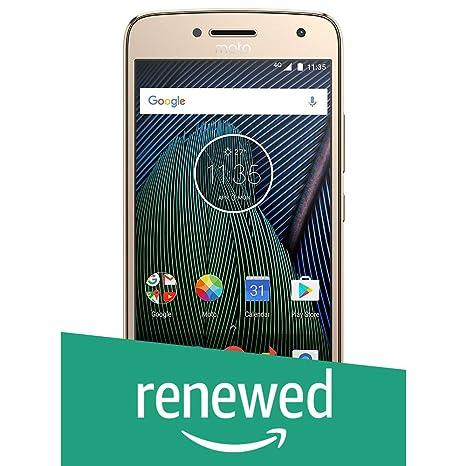 (Renewed) Moto G5 Plus XT1686 (Fine Gold, 32GB) Smartphones at amazon