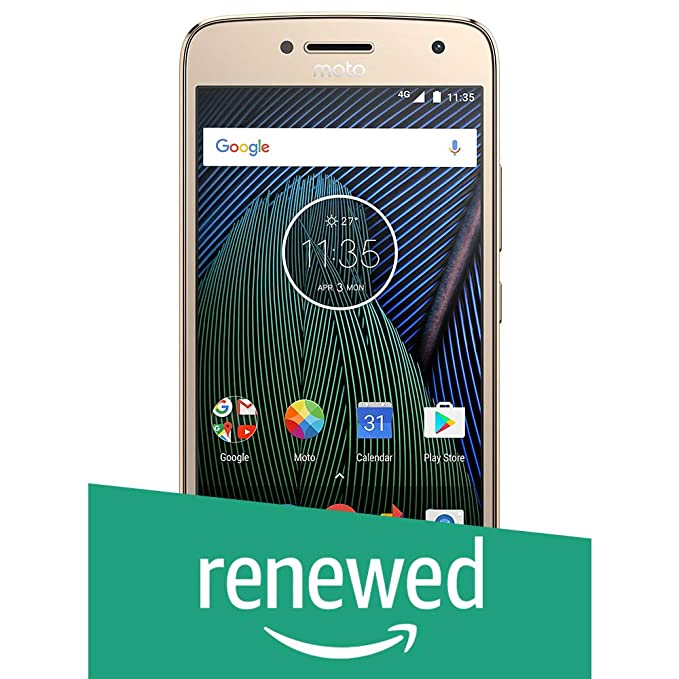 (Renewed) Moto G5 Plus XT1686 (Fine Gold, 32GB)