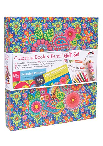Hello Angel Coloring Book & Pencil Gift Set