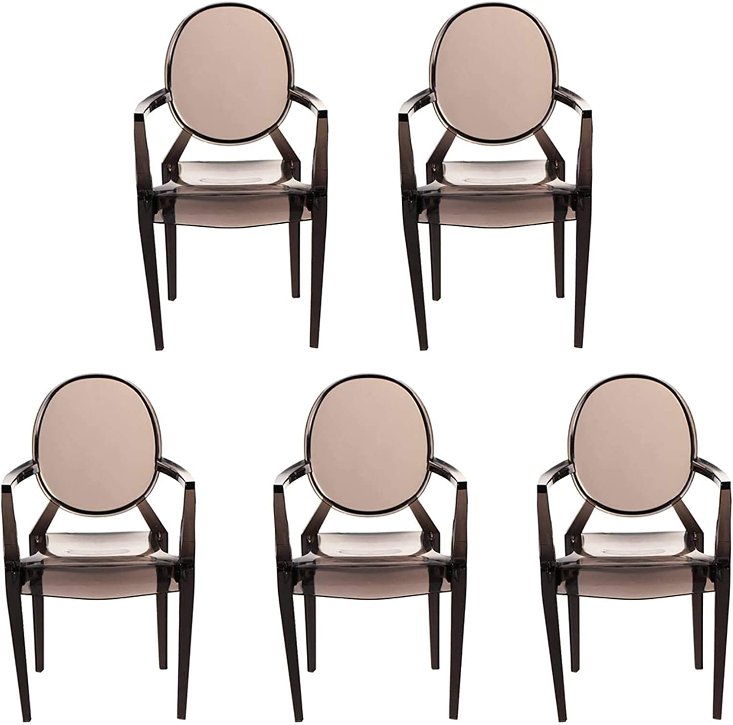 Tmtop 5PCS Miniature Armchair Plastic Chair Model Furniture for 1/6 Doll House Accessories Gray