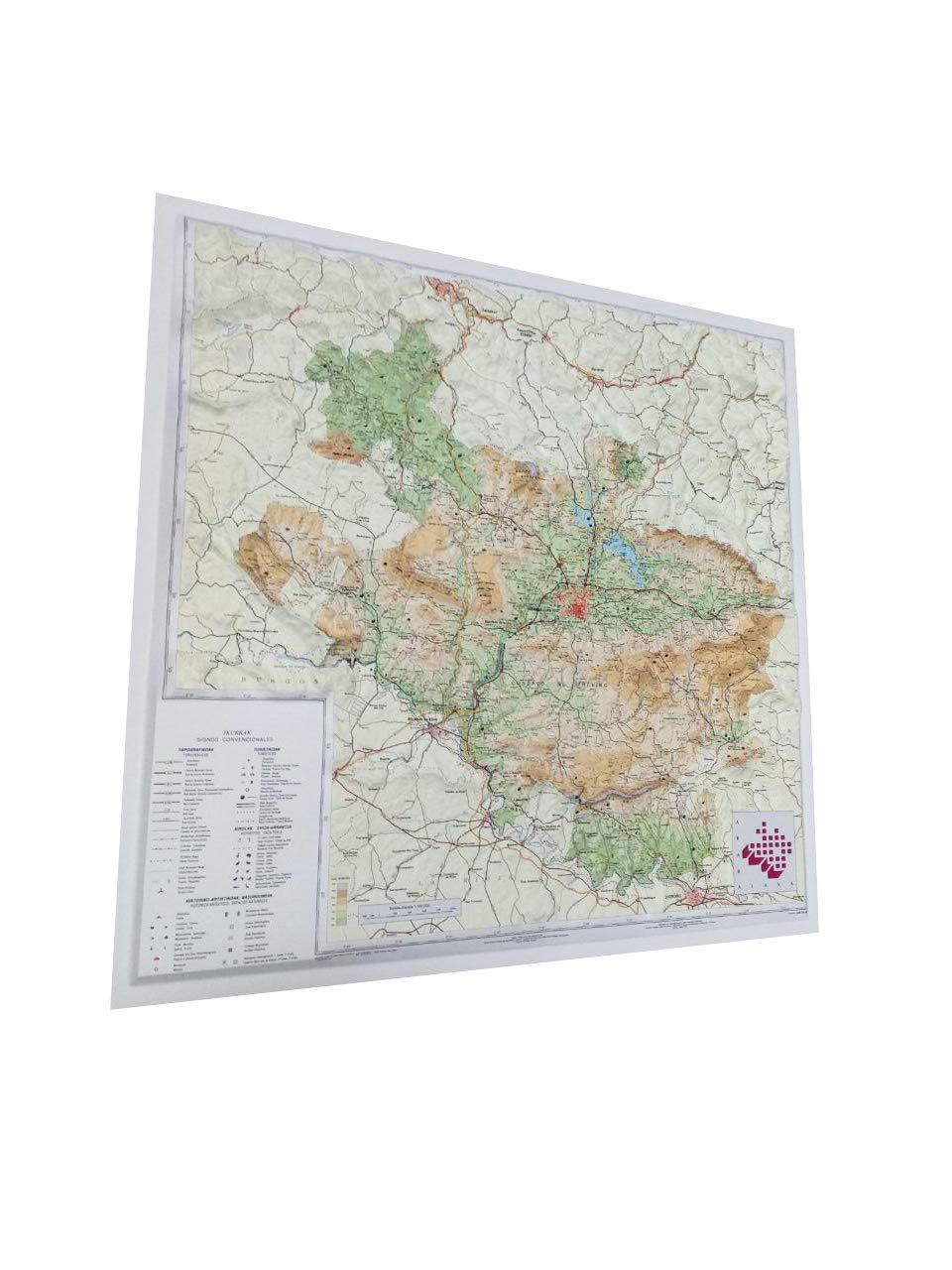 Mapa en relieve de Álava: Escala gráfica: Amazon.es: All 3D Form ...