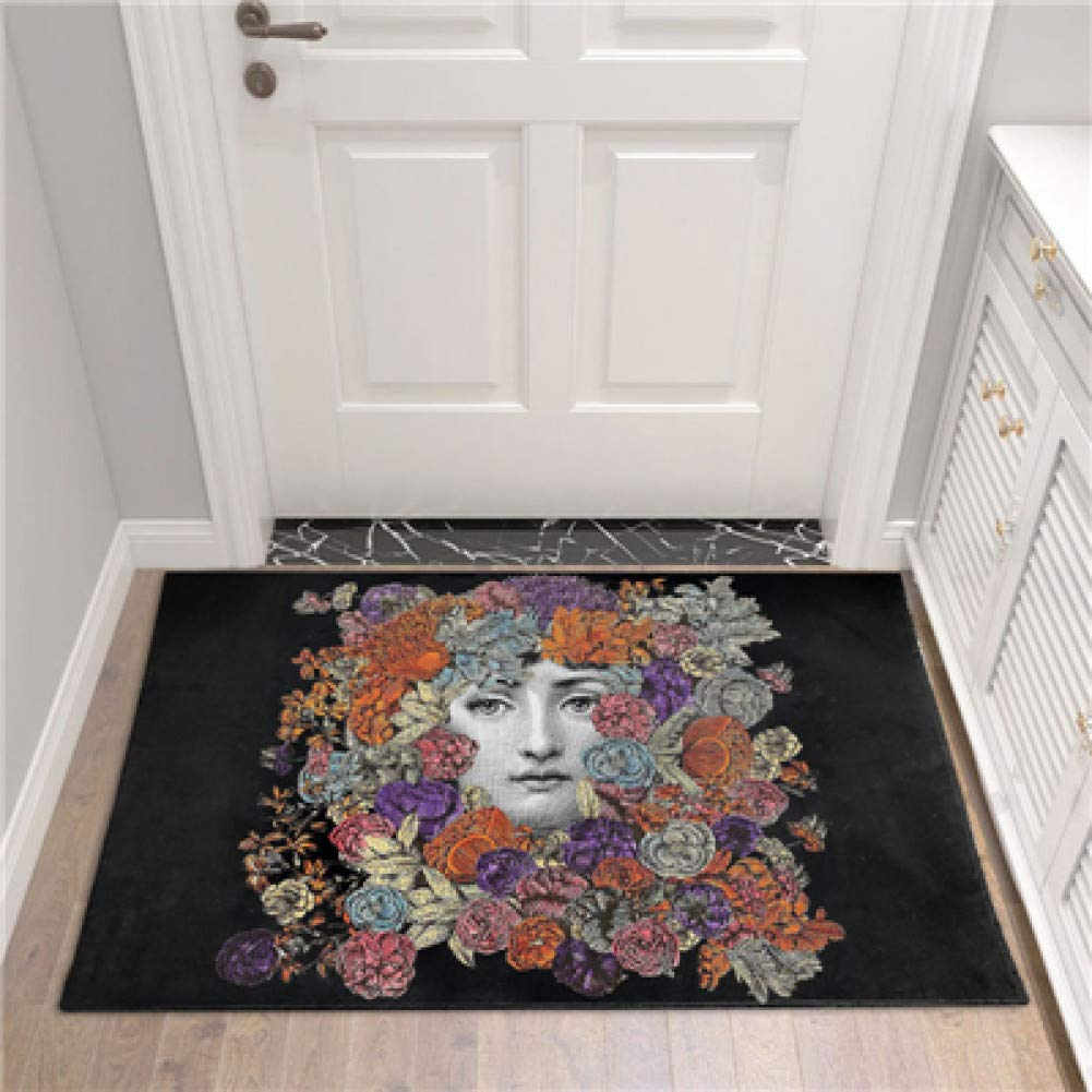 SUNNYFOR Fornasetti Decor Printed Floor Mat Rug Europe Vintage Door Mats Entrance Anti Slip Hallway Bedroom Living Room Floor Mat Carpet