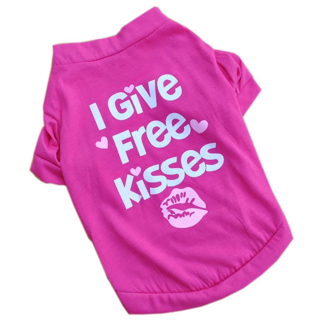 """I Give Free Kisses"" Puppy Clothes Dog T-shirt High Quality Clothing LovelyLifeAST"