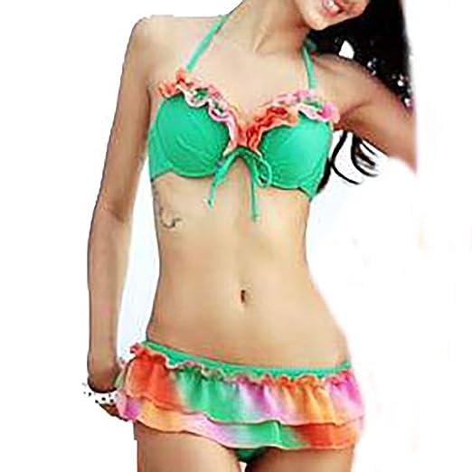 60ea2dbd22 Amazon.com  Womens Bikini Set Swimwear Brazilian Padded Top Swimsuit ...