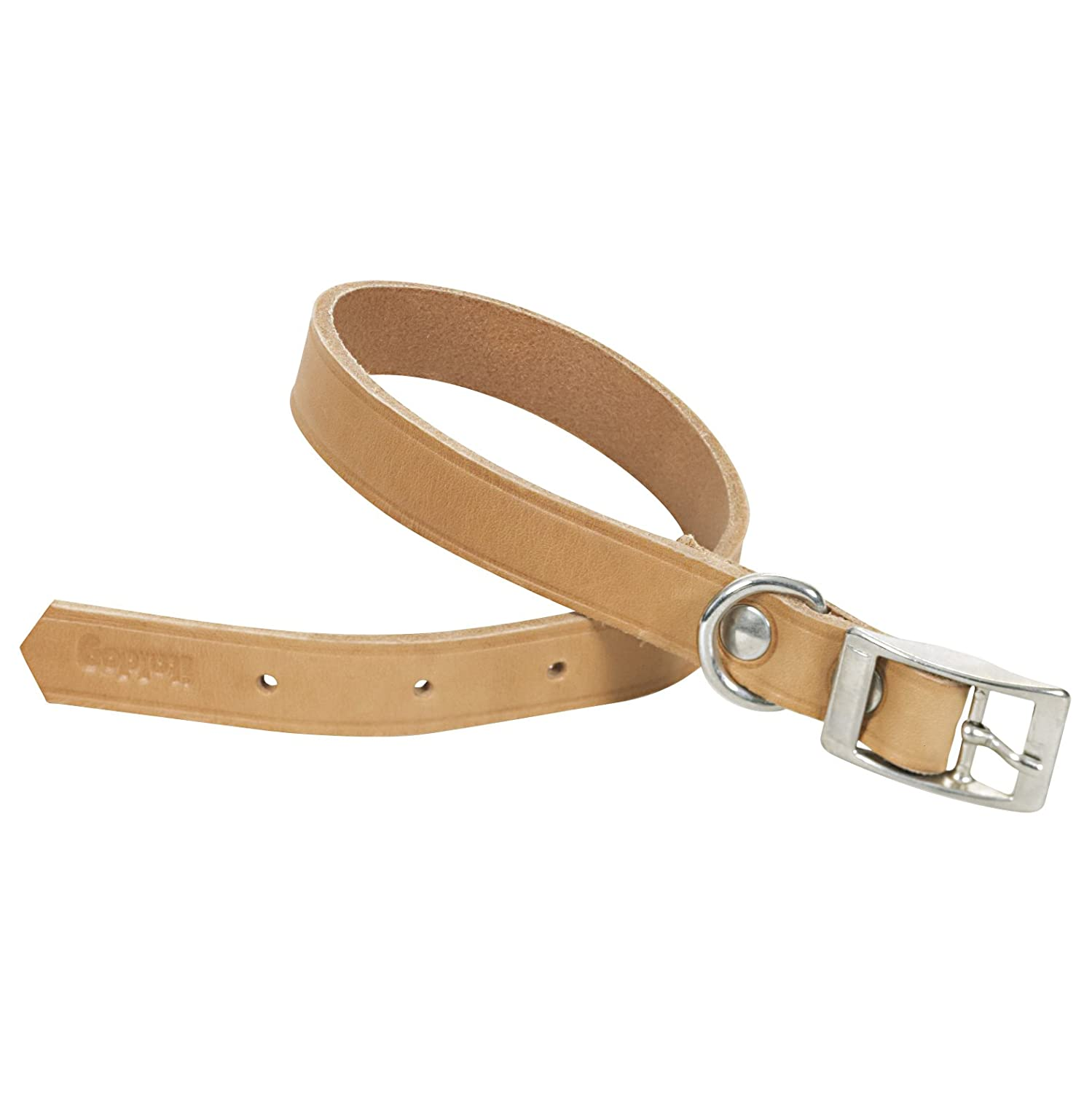 CHAPUIS SELLERIE SLA623 Collar for dog Natural leather Width 30 mm Length 60 cm Size L