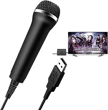 Elyco Micrófono USB Universal para Nintendo Switch/Wii/Xbox One/Switch PS4/PS3/PC, Cable Micrófono Compatible con Ordenador y Karaoke,Juegos de como Guitar Hero, Rock Star: Amazon.es: Electrónica