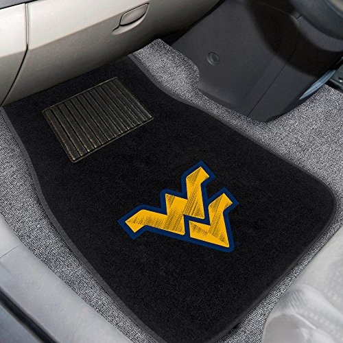 FANMATS 10303 West Virginia 2-Piece Embroidered Car Mat