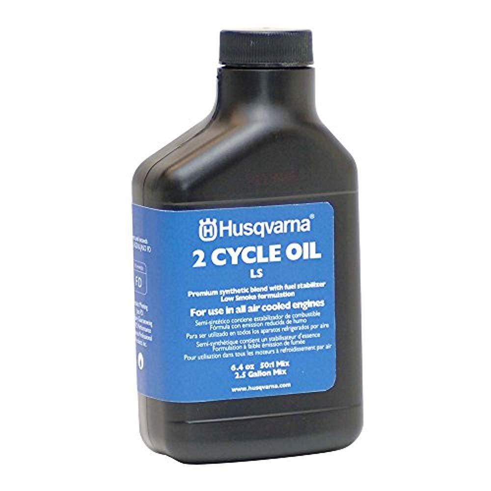Husqvarna 610000156 50:1 Low Smoke 2-Cycle Oil 2-1/2-Gallon Mix, 6.4-Ounce (2) by Husqvarna