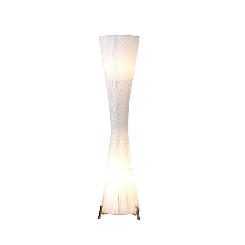 Riesige Design Stehlampe HELIX XXL weiss 200cm