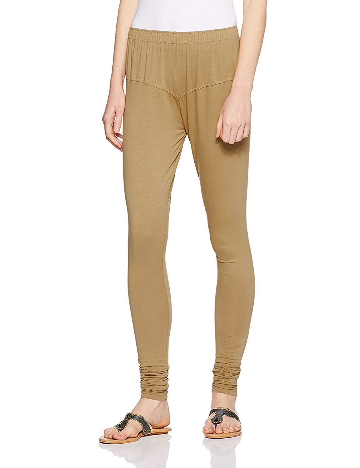 LYRA Women's Beige Churidar Leggings