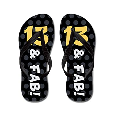 13Th Birthday Dots - Flip Flops Funny Thong Sandals Beach Sandals
