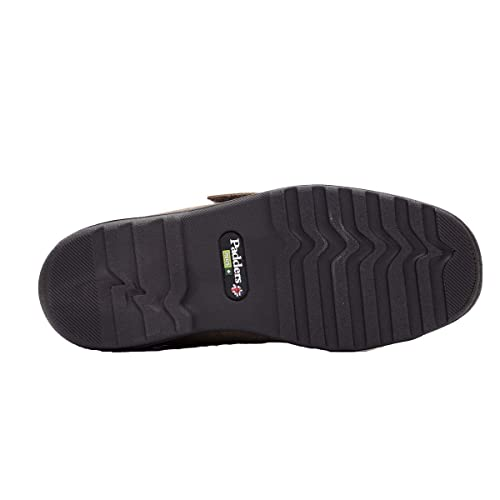 Padders DUAL Mens Super Wide Touch Fasten Casual Comfort Slippers Black G//H
