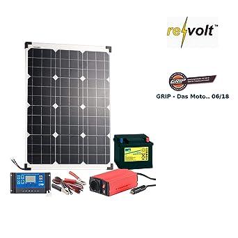 Revolt solaranlage: Panel Solar (50 W) con cambio de batería de plomo,