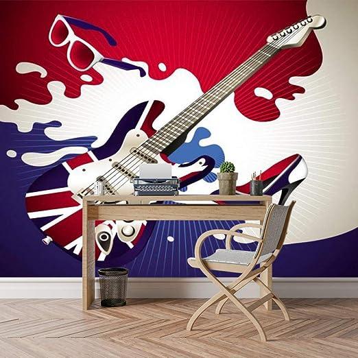 HUANG YA HUI Mural Guitarra Foto 3D Papel De Pared Moderno Salón ...