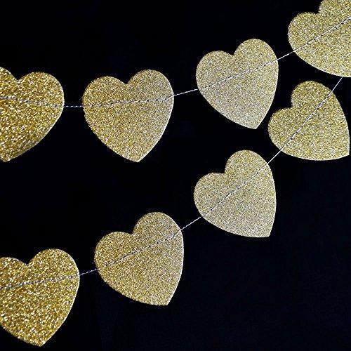 Quasimoon Glitter Shaped Garland PaperLanternStore