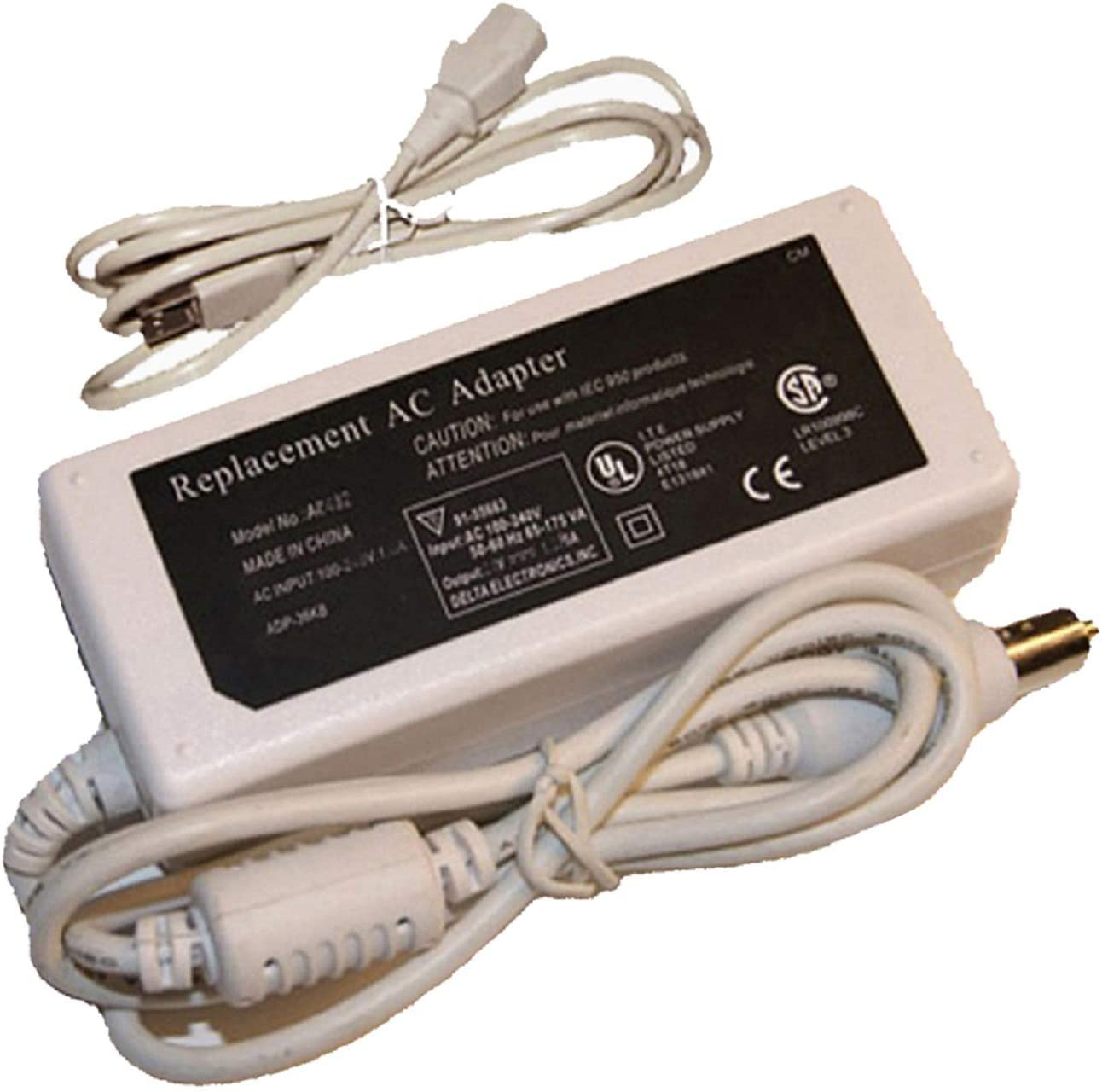 UpBright New AC/DC Adapter for Apple Mac iBook 700 800 900 PowerBook G4 A1104 Mac A1106 A1005 A1036 A1021 M9676LL/A M9677LL/A #503-23 A1085 A1046 Laptop 24V Power Supply Cord Battery Charger PSU