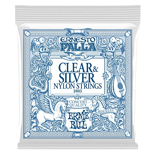 Ernie Ball Ernesto Palla Nylon Clear and Silver Classical Tie