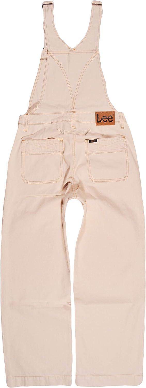 Lee Donna Jeans Salopette Overall Wide Leg Bib Ecru Small