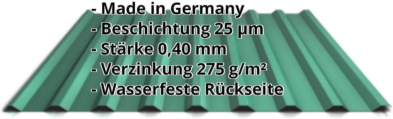 Profilblech Profil PS18//1064CR Farbe Anthrazitgrau Material Stahl St/ärke 0,50 mm Beschichtung 25 /µm Wellblech Dachblech