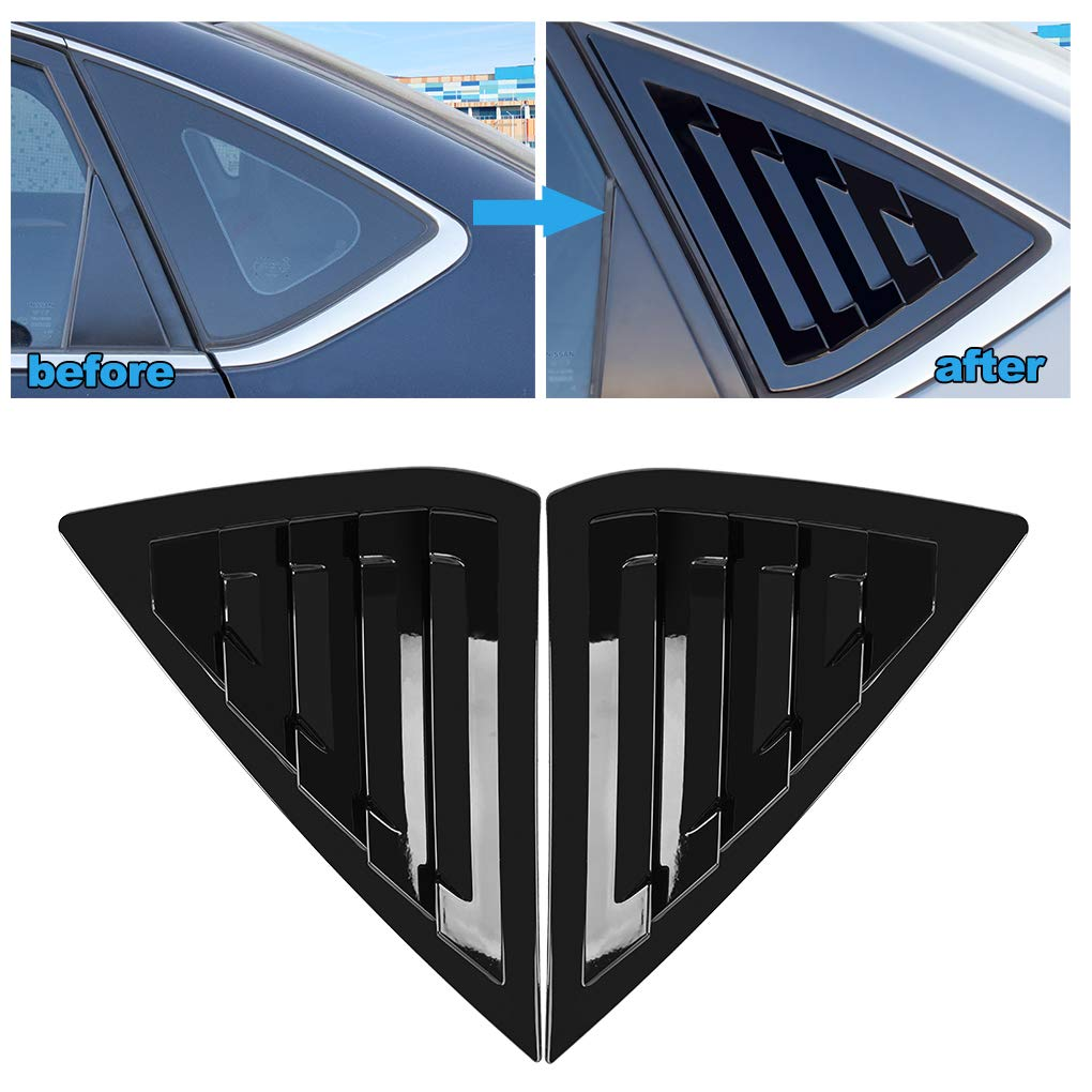 JIECHEN Compatible with Nissan Sentra Sedan 2013 2014 2015 2016 2017 2018 2019 2PCS Rear Window Quarter Side Vent Window Louvers Scoop Cover