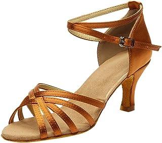 YONGPIN Women's high-Heeled Cross Strap Buckle Latin Dance Shoes Sandals Dance Shoes,Fashion Dancing Prom Ballroom Latin Salsa Dance Sandals Shoes