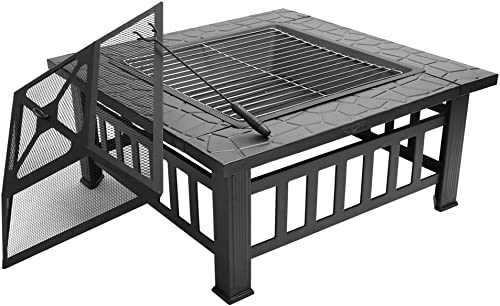 FCH 32″ Outdoor Square Fire Pit