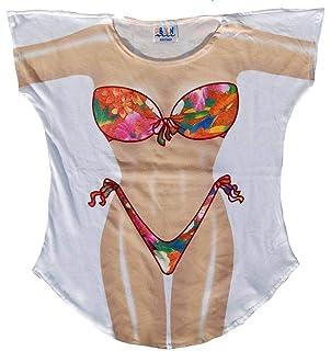 ccde10a5 Amazon.com: L.A. Imprints Mermaid Bikini Body Cover-Up T-Shirt #21 ...