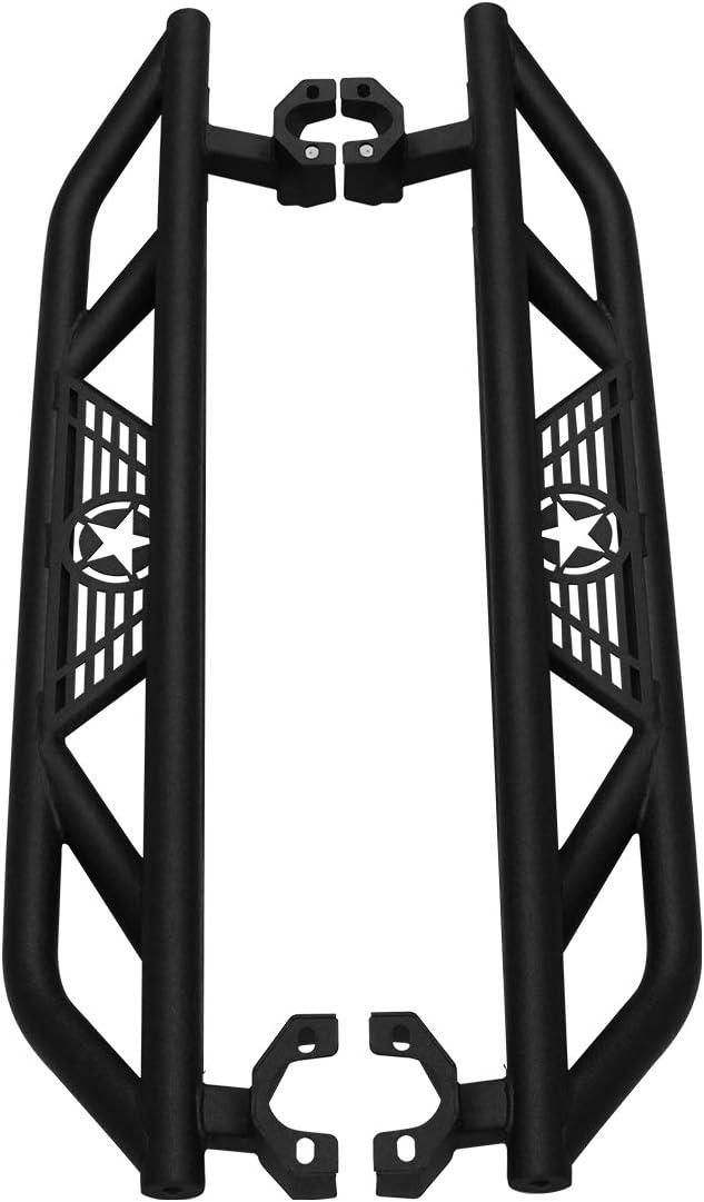 Pair BESKE Jeep Wrangler Steel Running Boards Running Board Side Step Bars for 2007-2018 Jeep Wrangler JK 2 Door