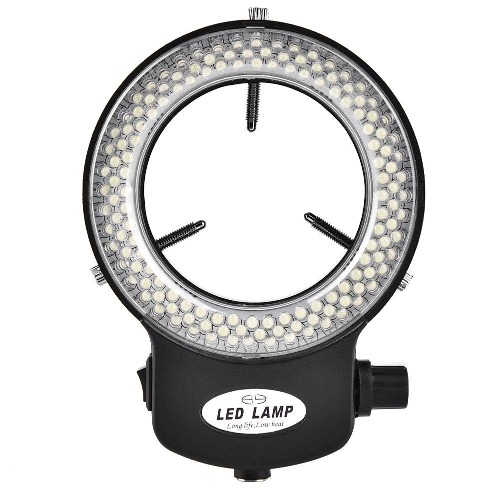 110V Noir Industrial Camera Led Ring Light Microscope Camera 144 LED Beads Light Source Brightness Adjustable Ring Lamp More Than 18000LUX LED Ring Light