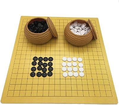 FunnyGoo Juego de Mesa Go Chess con Piedras de plástico en latas ...