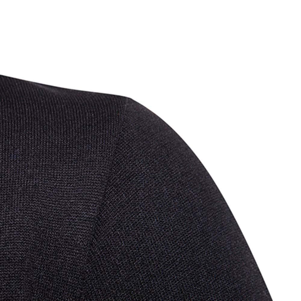 Roiper Chandail de Mode dhomme Hommes Occasionnels Automne Hiver /épissage /à Manches Longues Sweat-Shirt de Patchwork de Loisirs Chauds Sweatshirt
