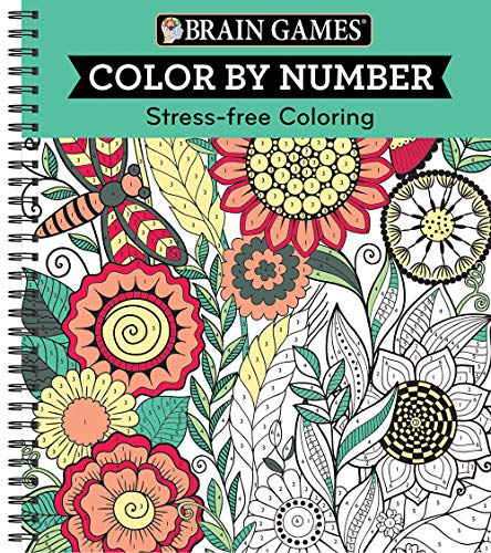 Pdf Humor Brain Games - Color by Number: Stress-Free Coloring (Green)