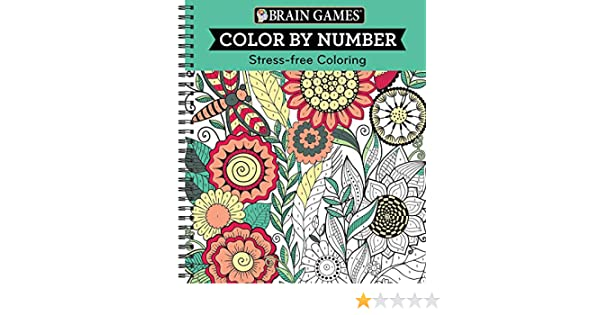 Brain Games Color By Number Stress Free Coloring Green Editors