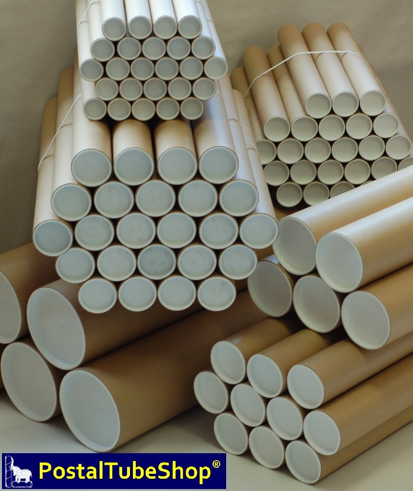 250 x A2 Postal Tubes 50.8mm x 450mm with plugs - Next working day delivery Postal Tube Shop