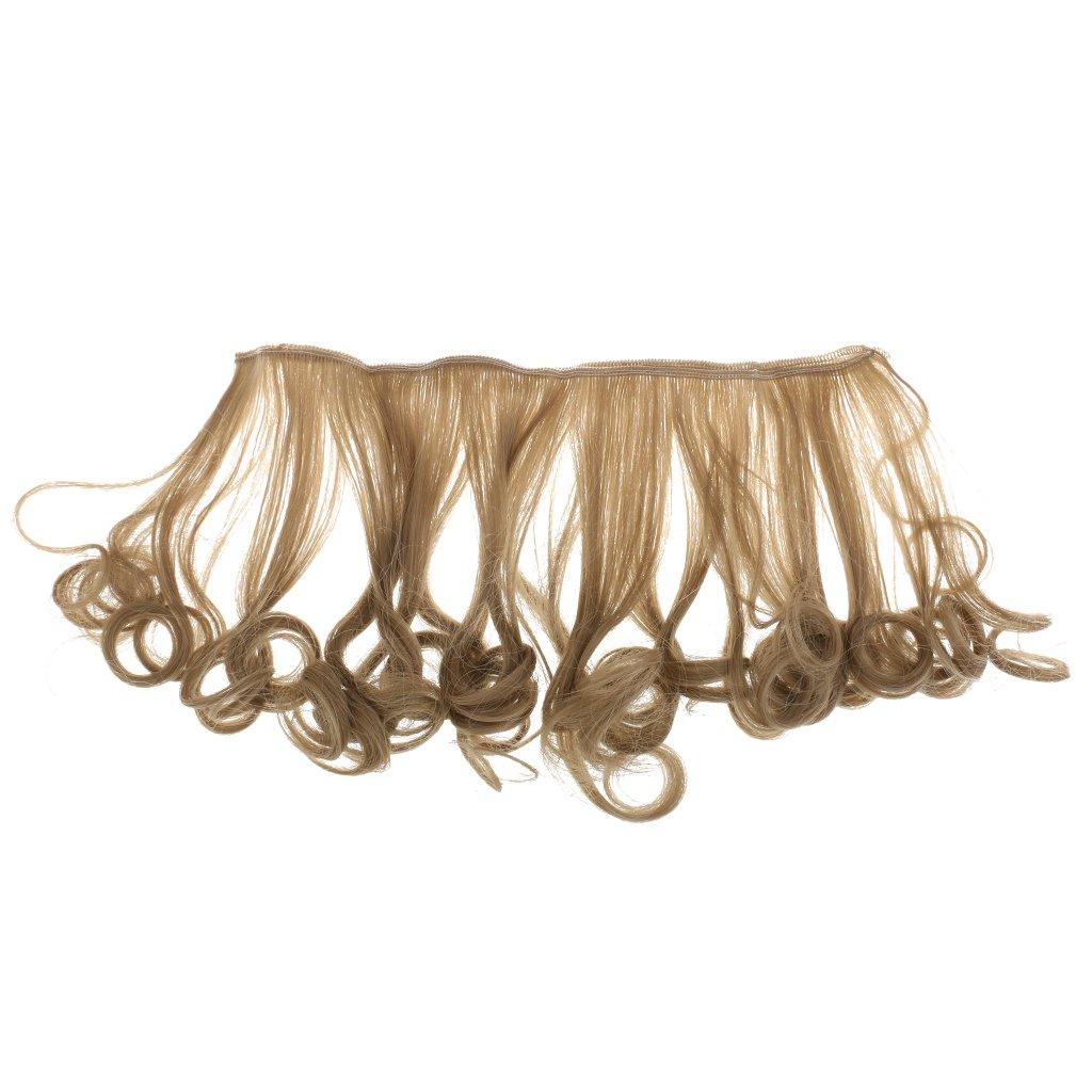 Flaxen (27D) Café. Cantidad  5.9    15 cm moda dulce estilo DIY pera peluca  de pelo rizado para ... 4a7fe42b6872