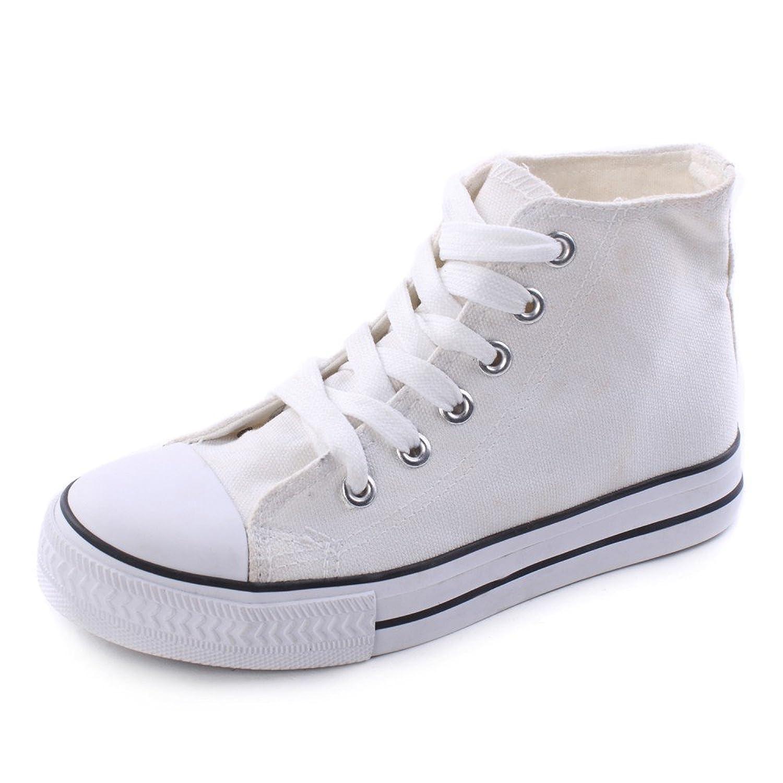 Damen Leinenschuh Canvas Hoch, Größe:38;Farbe:Dunkelblau Fitters Footwear