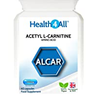Health4All Acetyl L-Carnitine ALCAR 500mg 120 Capsules (V) | 100% VEGAN | Free UK Delivery