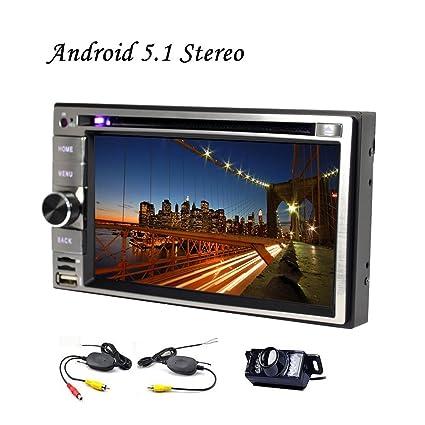 6.2 pulgadas 2 Din Android 5.1.1 coches reproductor de DVD de navegaci