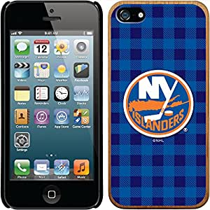 Coveroo iPhone 5/5S Madera Wood Thinshield Case with New York Islanders Plaid Design
