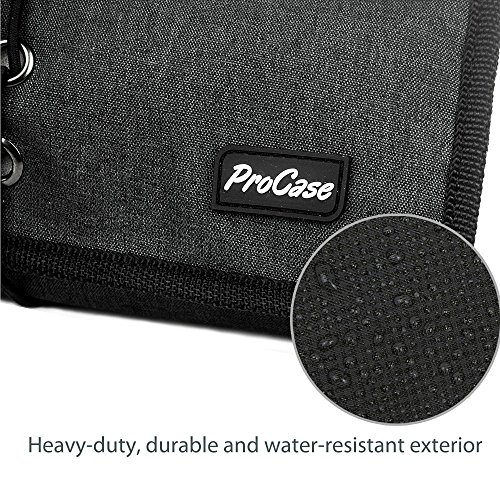 ProCase Travel Gear Organizer Electronics Accessories Bag, Small Gadget Carry Case Storage Bag Pouch for Charger USB Cables SD Memory Cards Earphone Flash Hard Drive -Black by ProCase (Image #3)