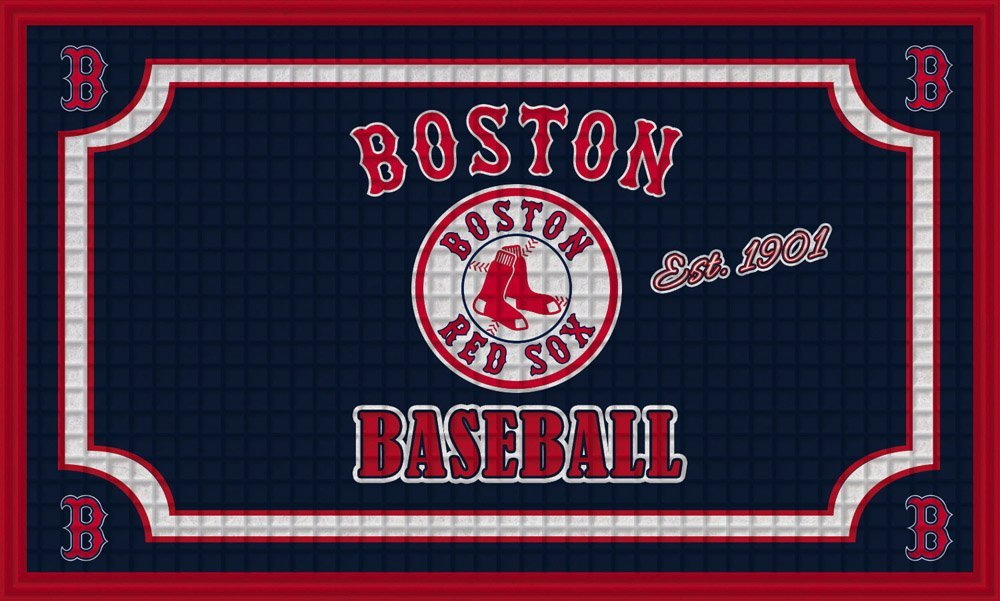 Team Sports America Boston Red Sox Embossed Floor Mat, 18 x 30 inches