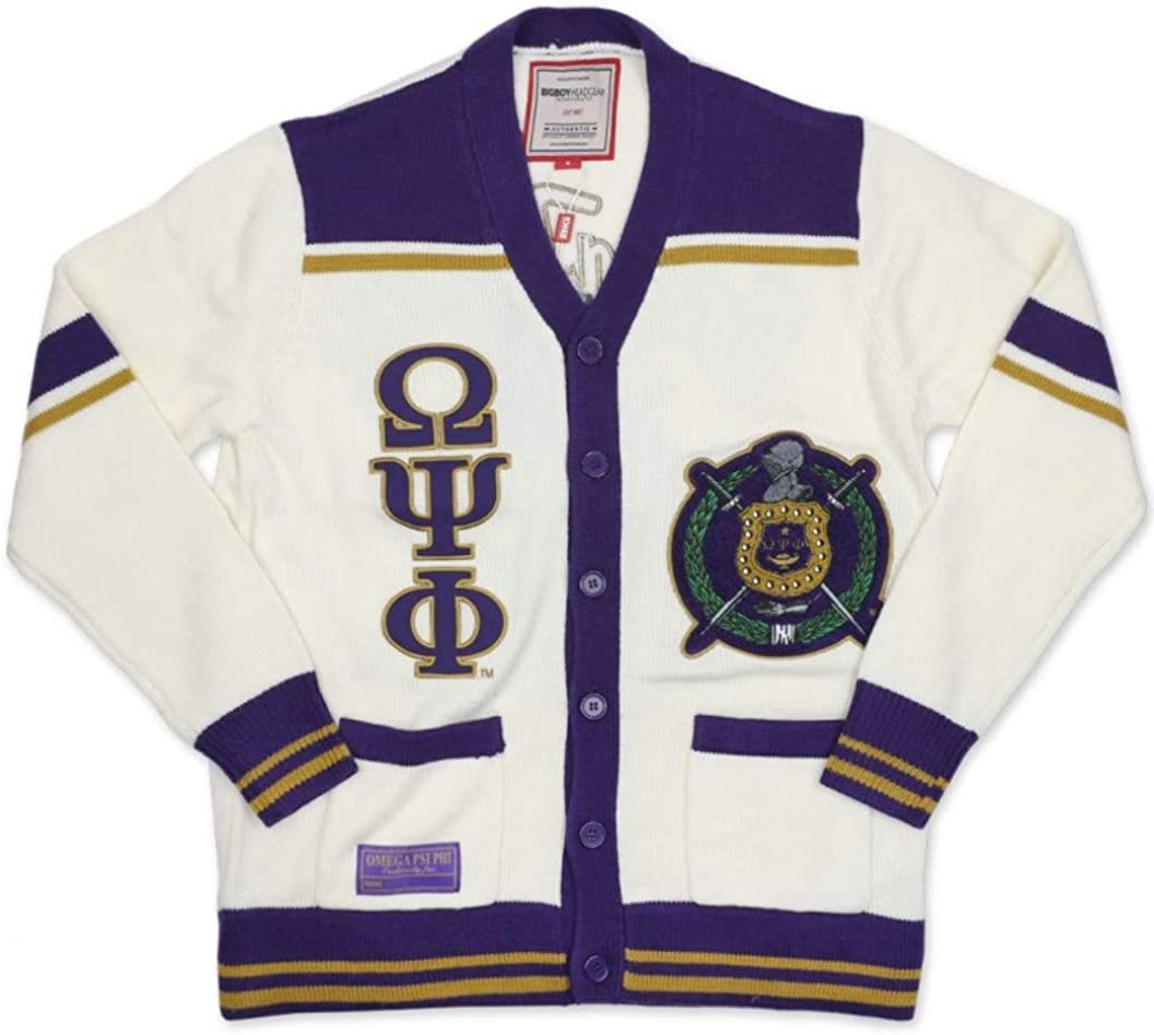 Psi Phi New Wool Cardigan Sweater White